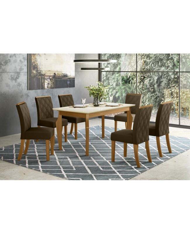 Conjunto De Mesa Ghala/06 Cadeiras